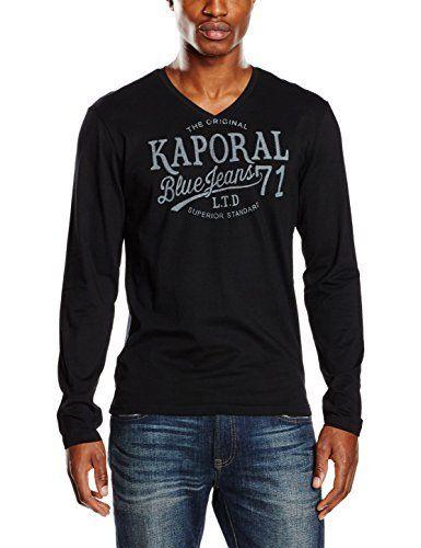 484d59d6ded3e Kaporal Bartz, T-Shirt Homme Manche Longue, Noir (Black), X-Large ...