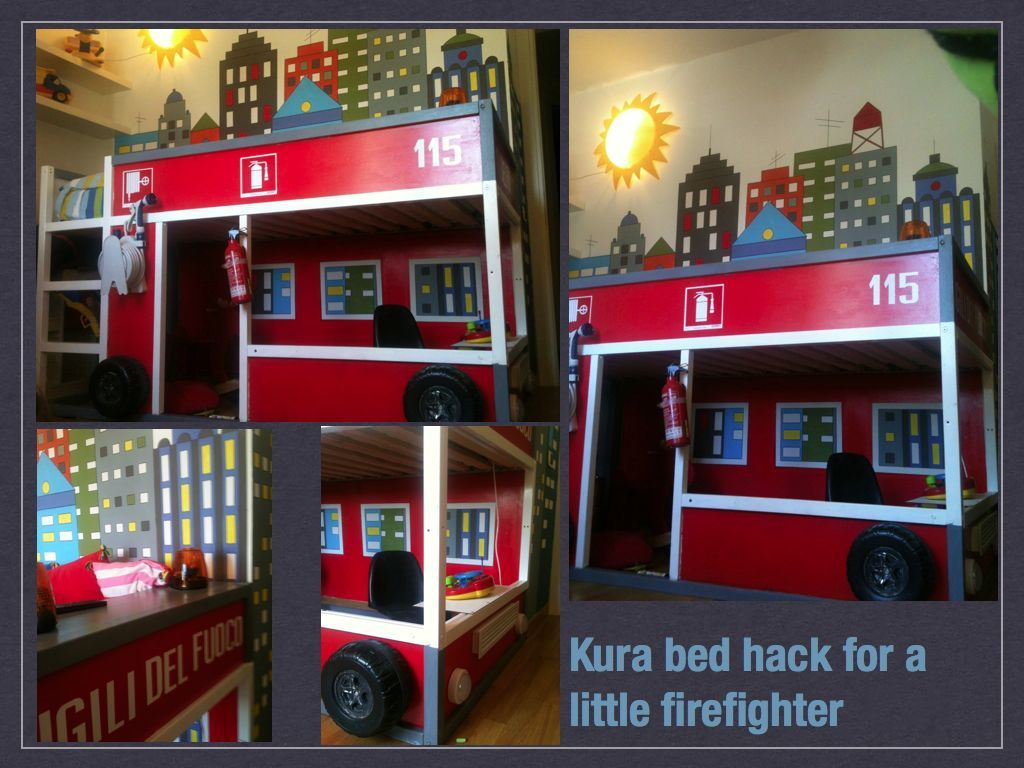 ikea hack kura firefighter bed image only kids room