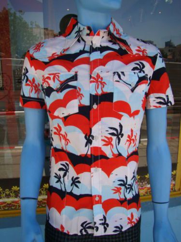 hawaii button shirt classic  retro style designer by BANKUSSI