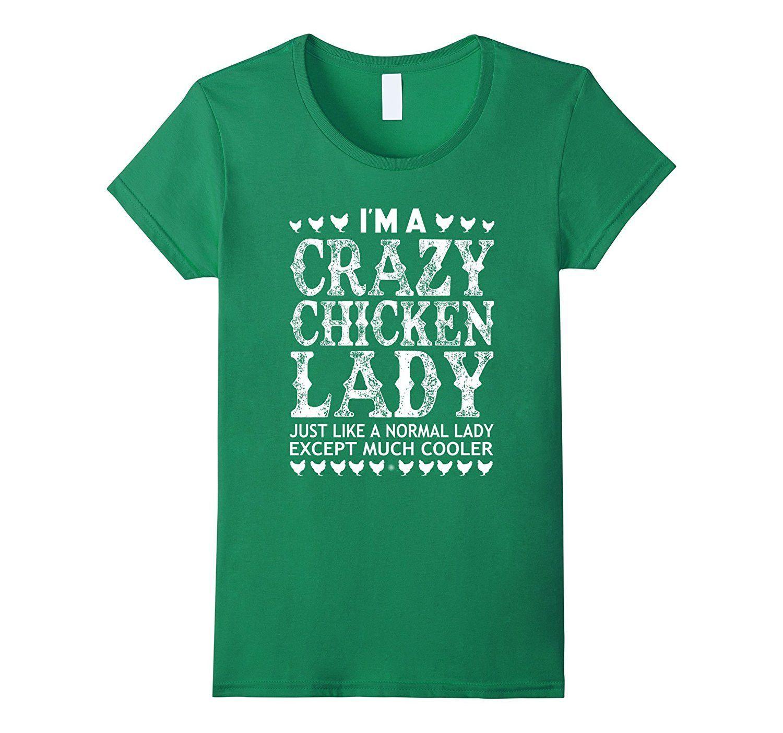 Women's crazy chicken lady TShirt Nuts shirt, T shirt