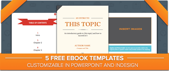 Five Free Ebook Templates for Powerpoint & InDesign !! @Hubspot is ...