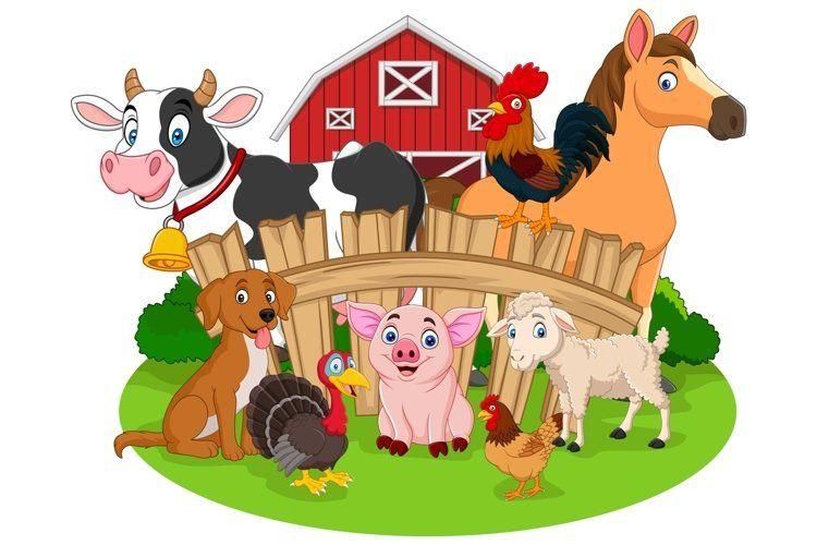 Farm Animals Bundles 791306 Characters Design Bundles In 2021 Farm Cartoon Cartoon Animals Cartoon Baby Animals