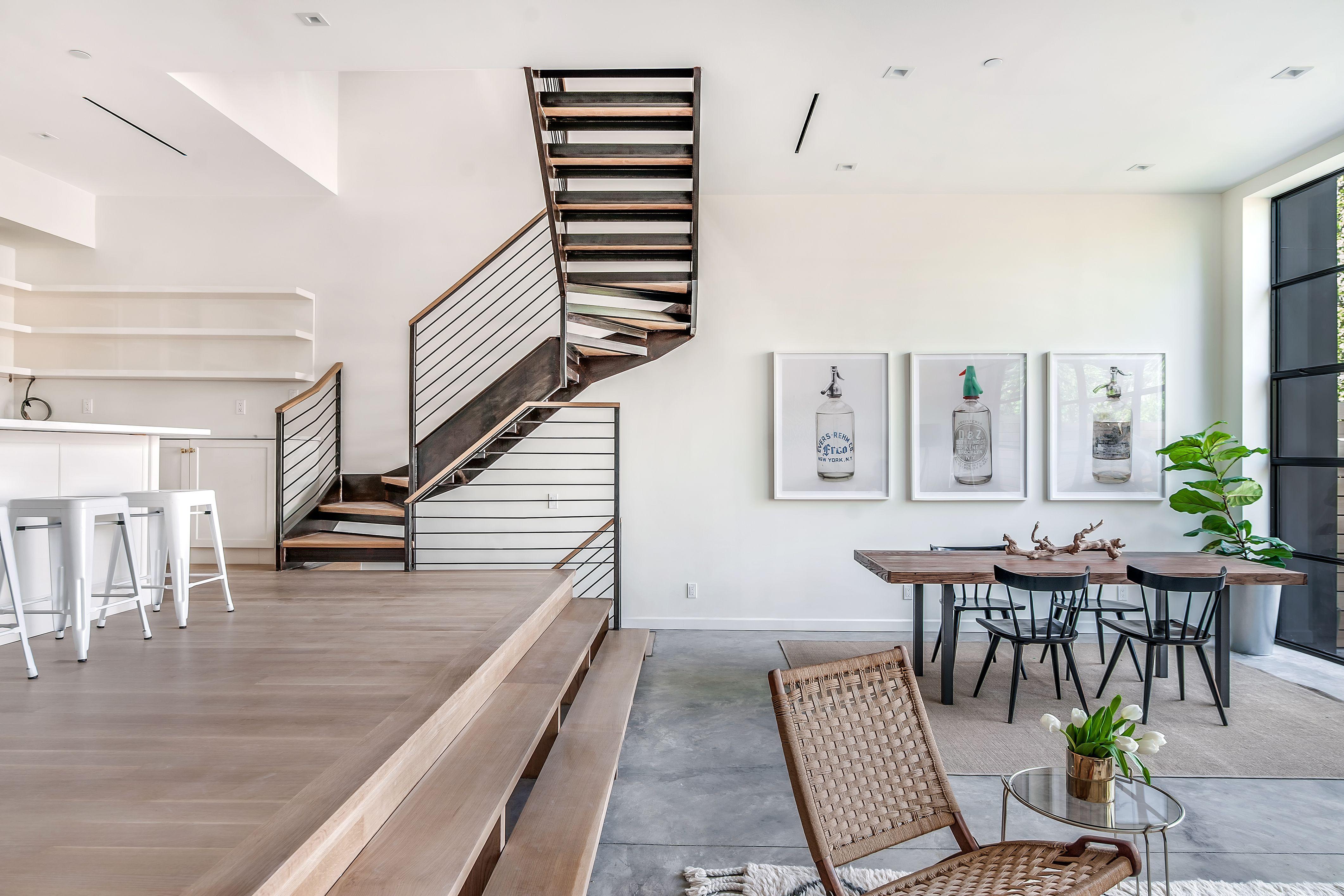 versetzte ebenen holz fussboden dachschraege design, south slope house by elizabeth dooley | . space . wide | pinterest, Design ideen
