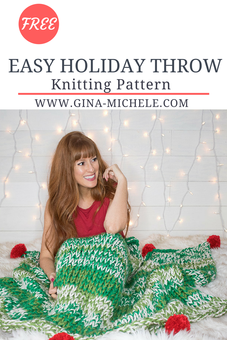 Holiday Throw Knitting Pattern | The Best of Pinterest! | Pinterest ...