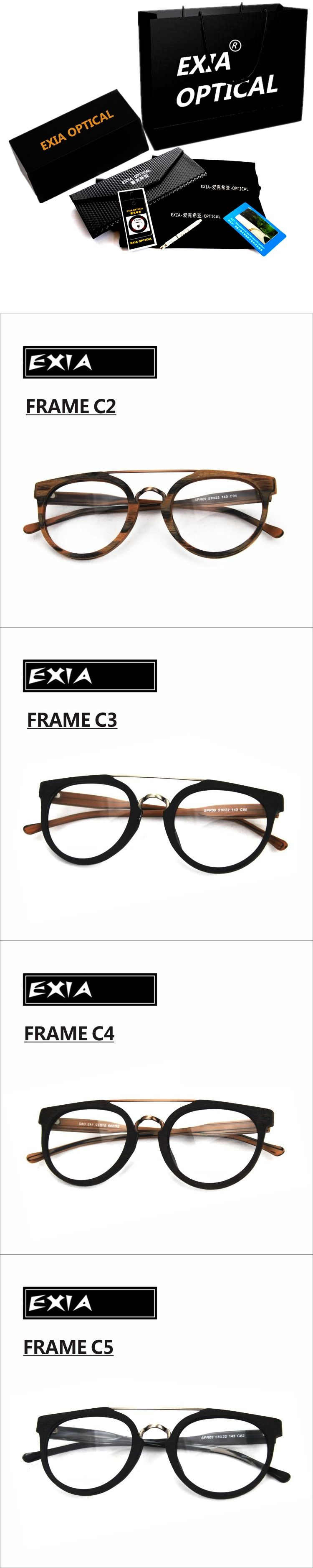 c434ccc04ac Glasses Frames Acetate High Quality Design Unisex Can be with RX Ophthalmic  Lenses EXIA OPTICAL KD