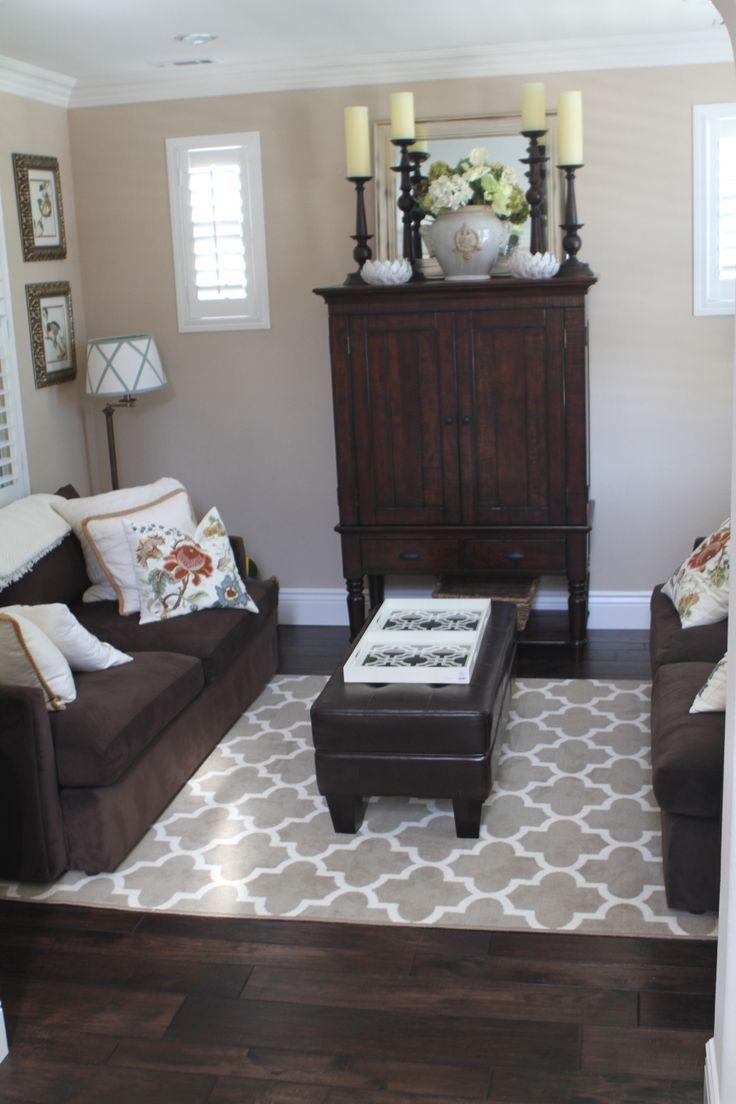 Hardwood Floors Dark Furniture Living Room Brown Living Room