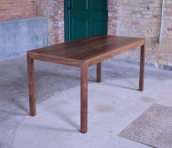 60x30 Edge Walnut Dining Table Desk Dining Table Solid Wood