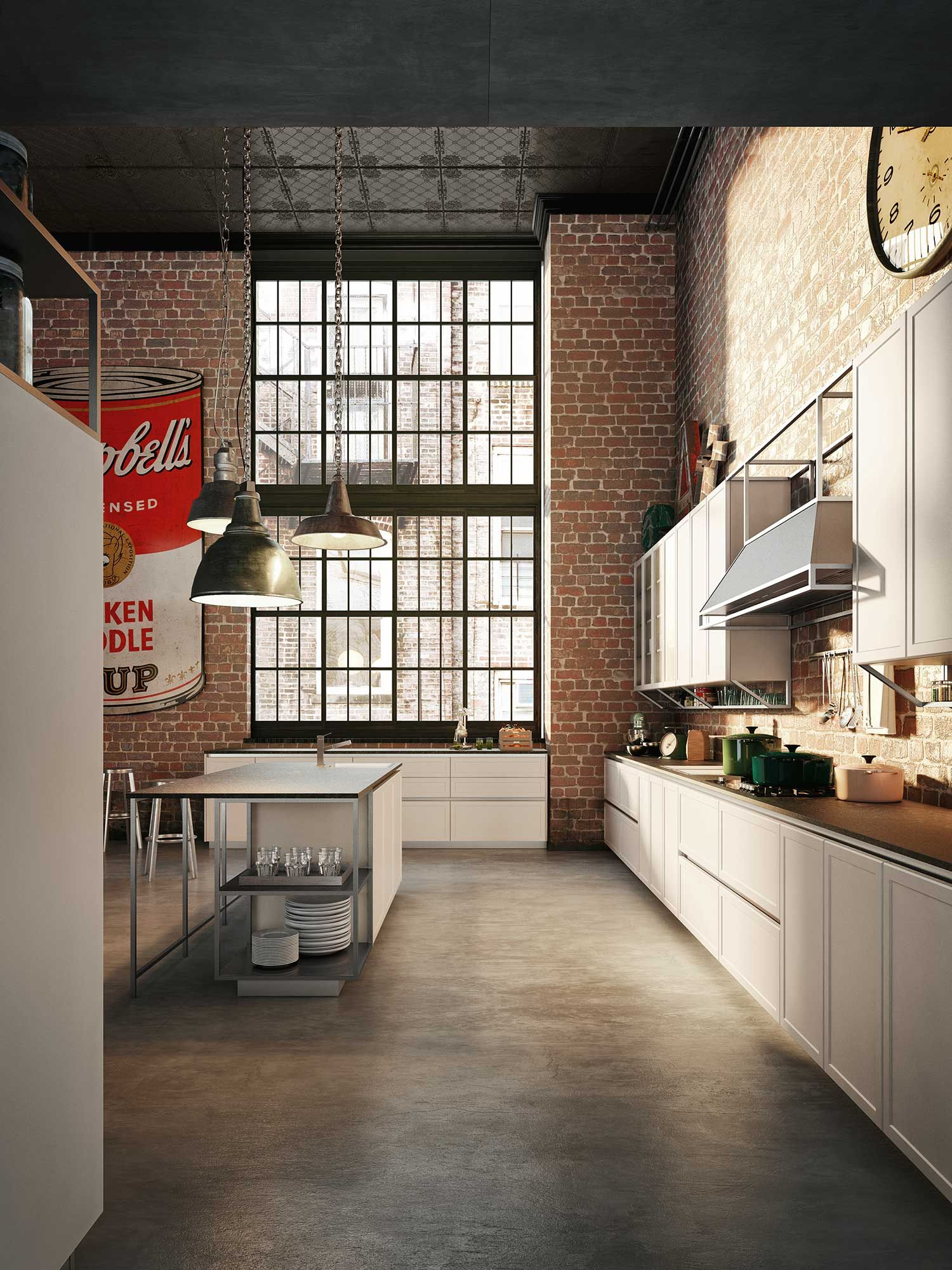 Frame Collection Icons Vintage Kitchens