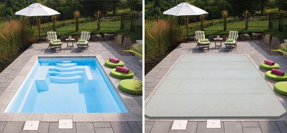 piscine_creusee_Fibro_F-20c Extérieur Pinterest - reihenhausgarten und pool