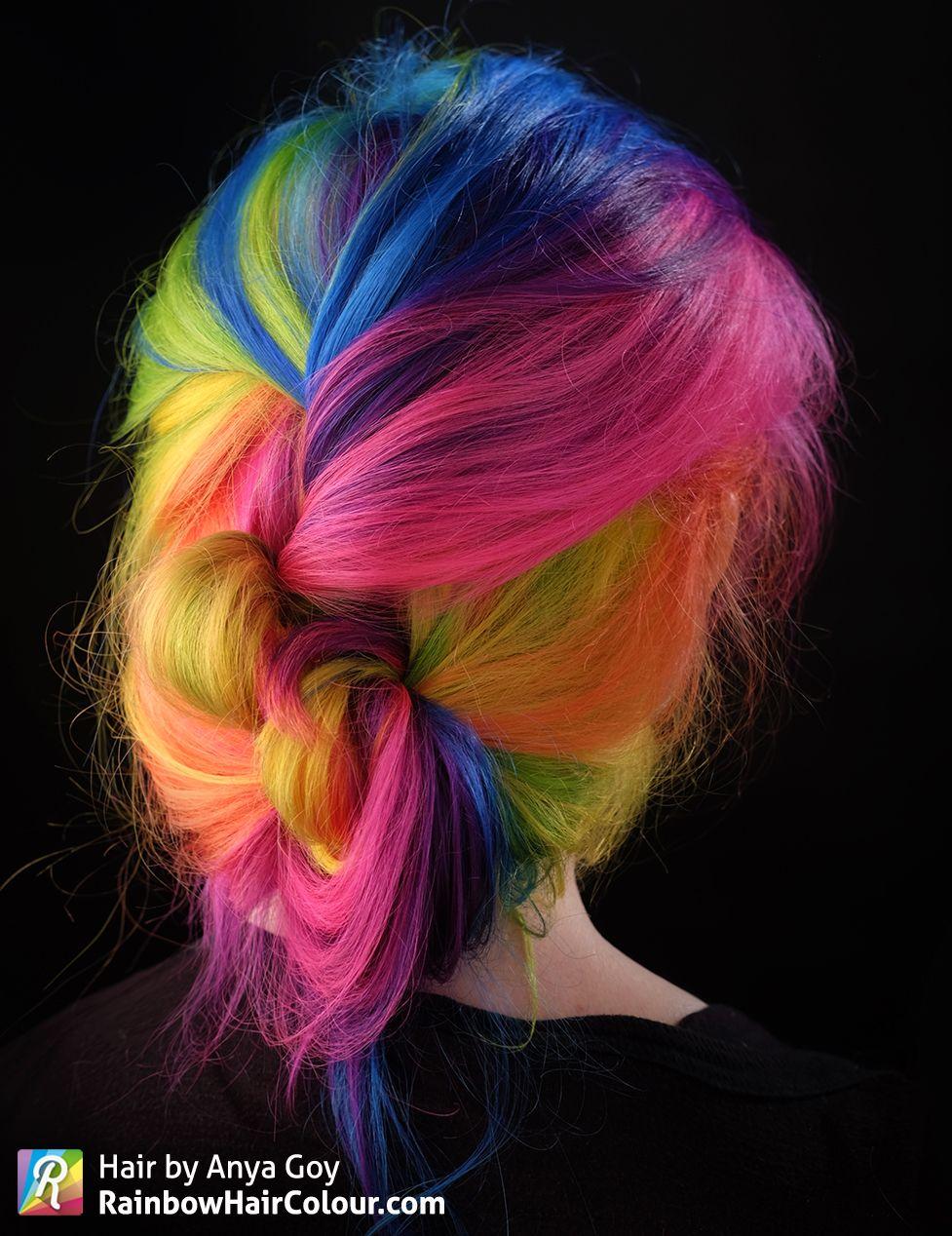 Under Maintenance Pinwheel Hair Color Hair Dye Colors Rainbow Hair