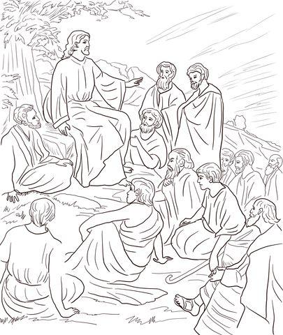 Jesus Teaches In Parables Paginas De Colorir Da Biblia Desenho