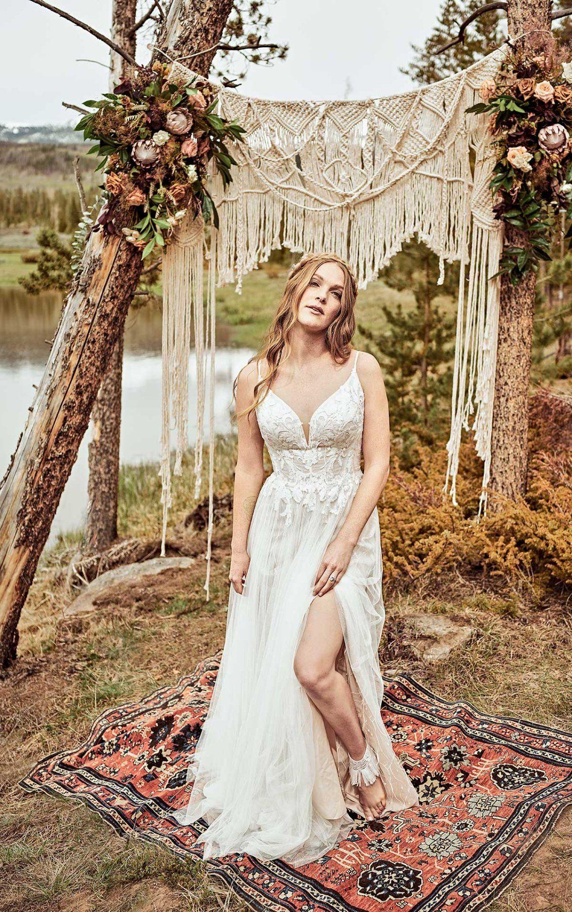 Effortless Boho ALine Wedding Dress All Who Wander in