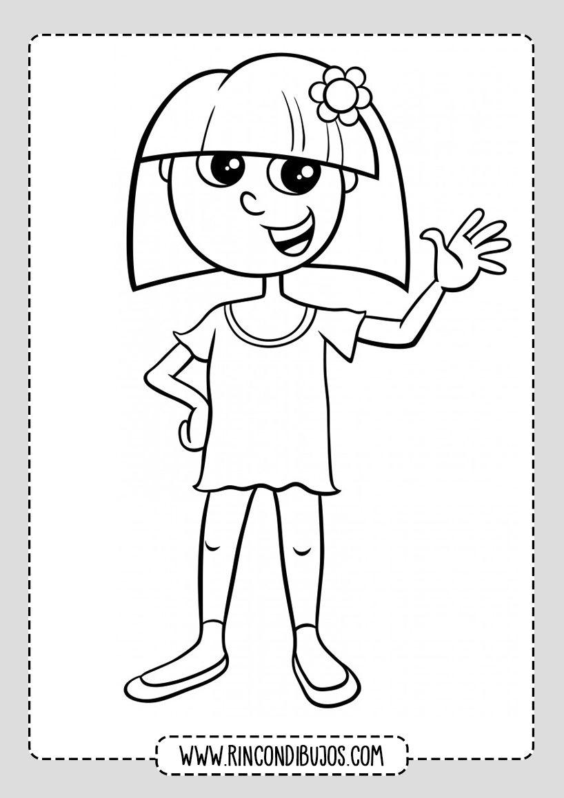 Dibujo De Nina Saludando Rincon Dibujos Dibujos Para Ninos Ninos Dibujos