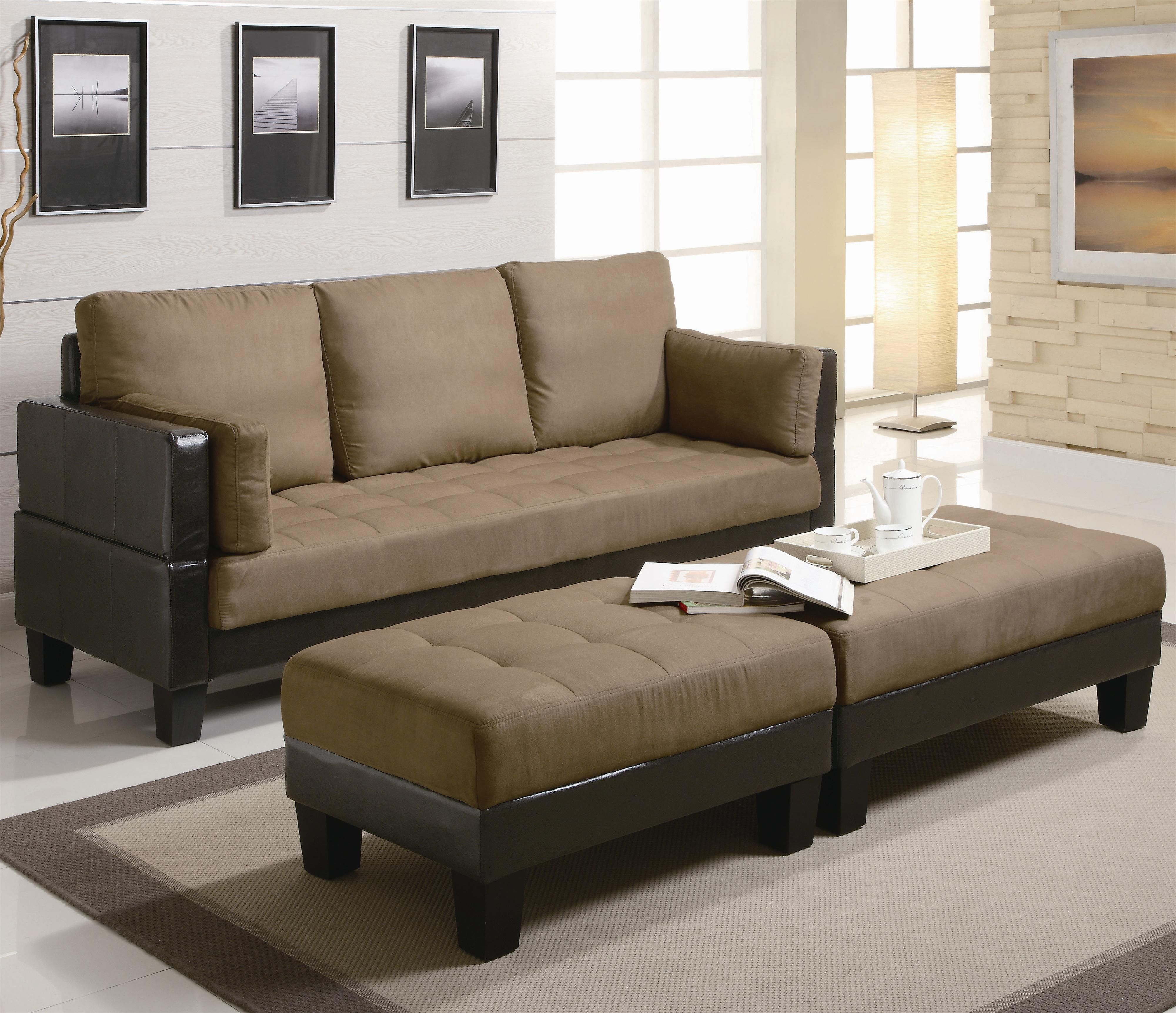300160A Fulton Contemporary Sofa Bed Group with 2 Ottomans