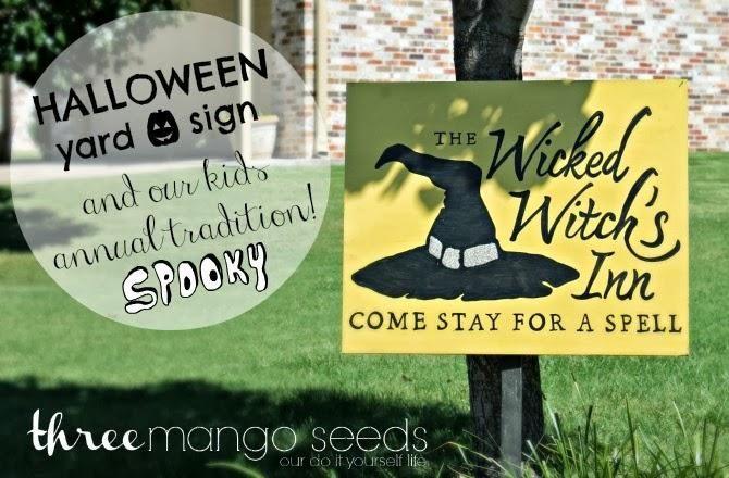 DIY Halloween : DIY Halloween Yard Sign