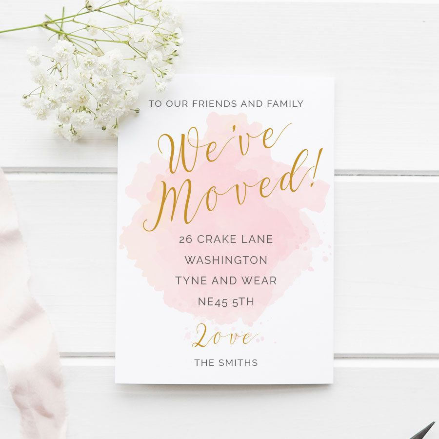 We've Moved - Announcement Cards - EDITABLE Template ...