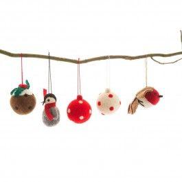 Felted Christmas Tree Decorations ¦ Pedlar