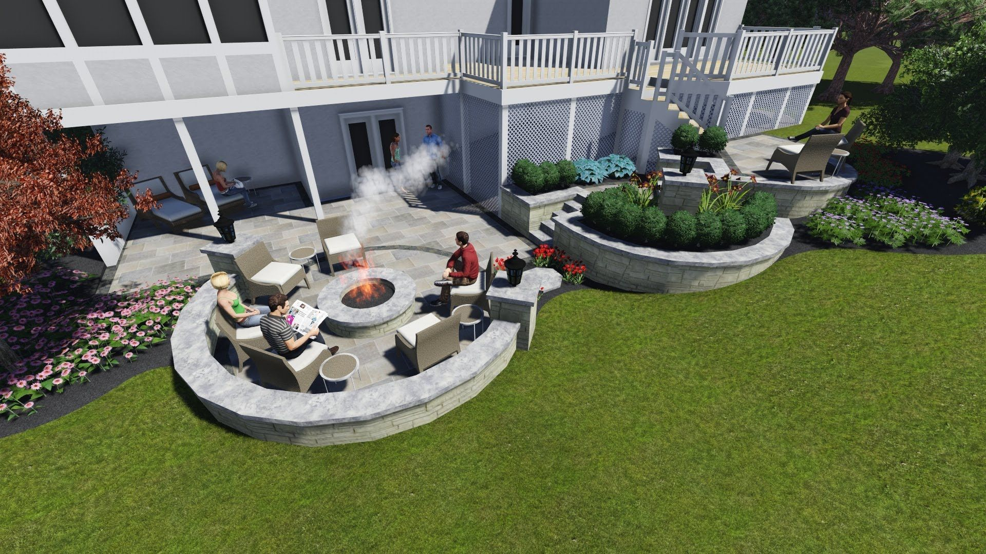 Image Result For Walkout Basement Patio Below Deck Walkout Basement Patio Patio Walkout Basement