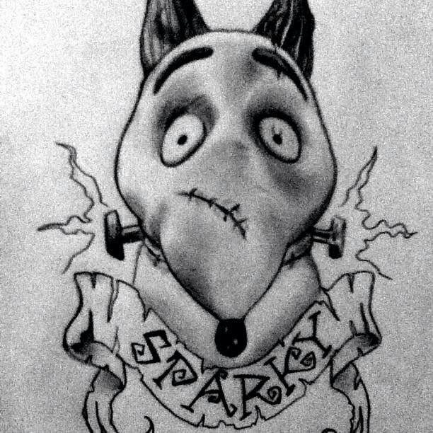 Frankenweenie Tattoo Tim Burton Art Tim Burton Art Style Tim Burton Tattoo