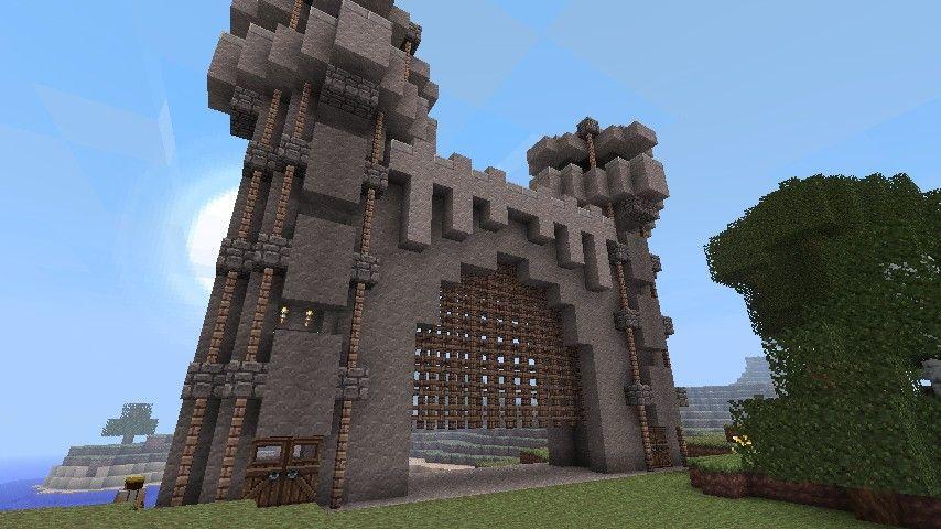 castle gate minecraft pinterest minecraft ideas and craft