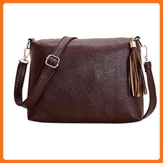 Hunzed Women Tassel Leather Bag Crossbody Shoulder Messenger Bags (Brown) - Wallets (*Amazon Partner-Link)