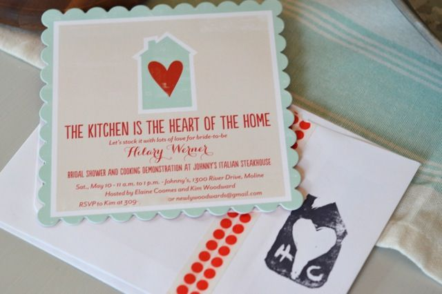 A kitchen bridal shower and cooking demonstration {red and aqua} - NewlyWoodwards