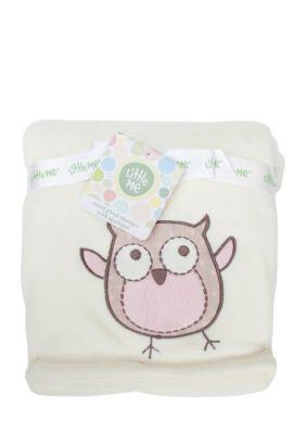 Little Me White Plush Owl Blanket