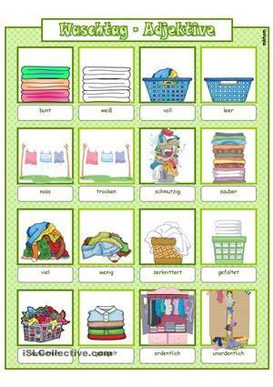 waschtag adjektive bildw rterbuch ab gegens tze bildw rterbuch adjektive grammatik. Black Bedroom Furniture Sets. Home Design Ideas