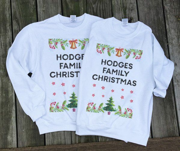 Custom family sweatshirts- Matching Couples Sweatshirts Ugly Sweaters Tacky Christmas