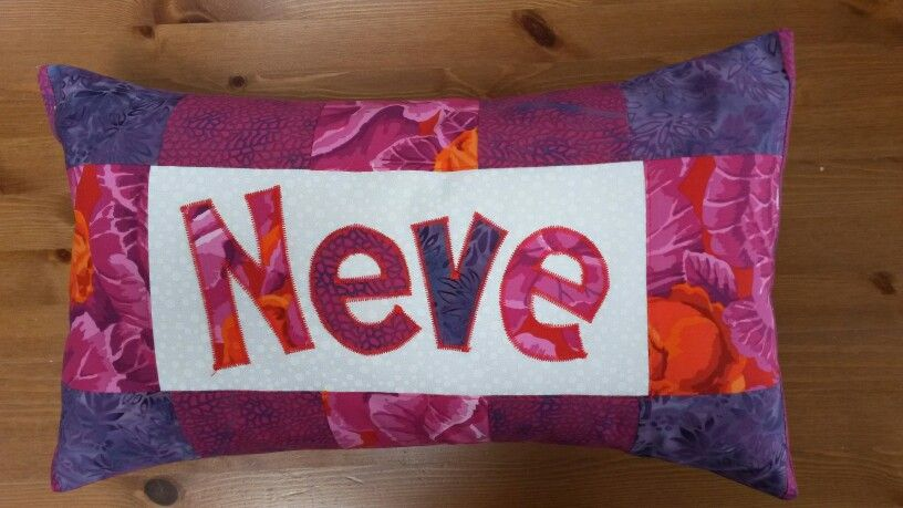 Personalised name cushion, a  baby naming present