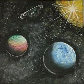 Bolygók akril