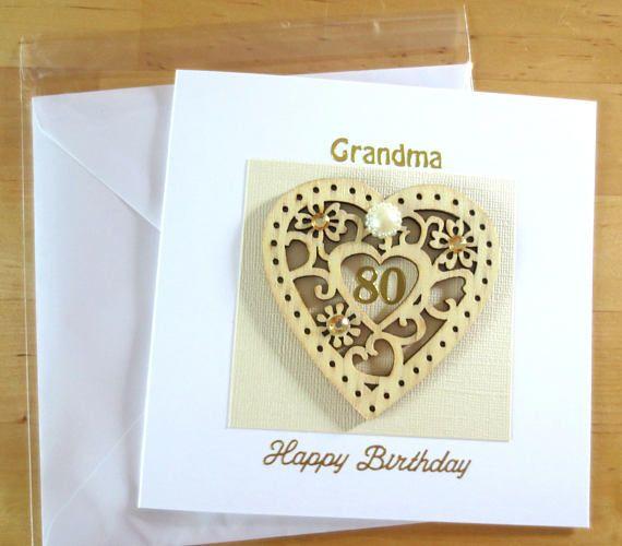80th Birthday Card Personalised Age 80 Mum