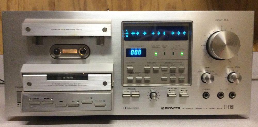 Vintage Pioneer Stereo Cassette Tape Deck Model No Ct F950 120 Volts Dolby Workvintage Pioneer Stereo Stereo Cassette Ta Vintage Electronics Tape Deck Vintage