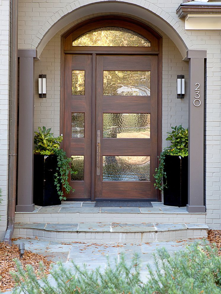 Inspirational Entry Door with Transom Window
