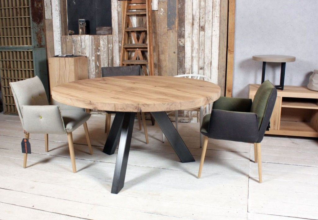 Tafel Metalen Onderstel : Ronde tafel op maat in tafel stalen onderstel i