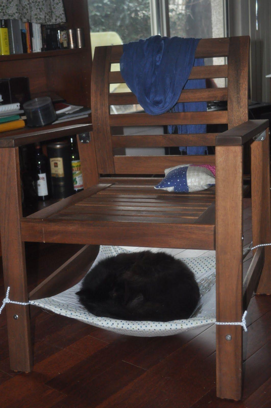 Foxy Fadette: [Défi Casa] Un hamac de chat avec des appliqués inversés