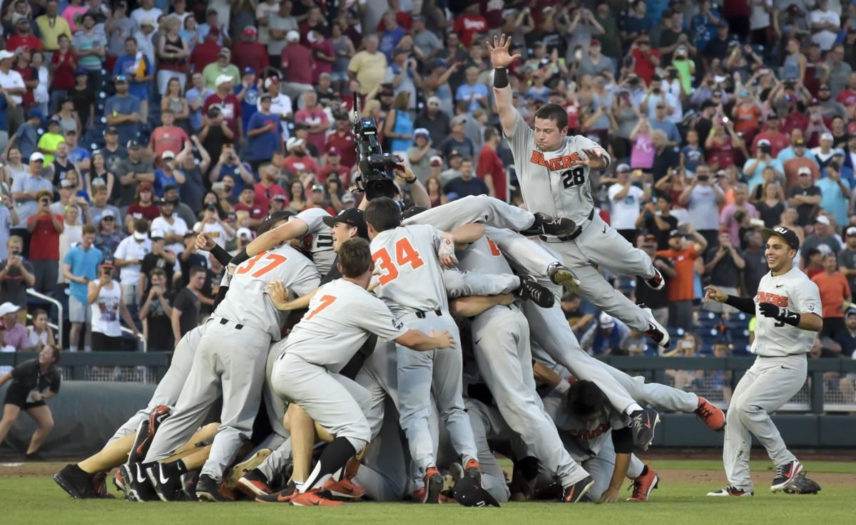 OSU Wins National Title pig pile 2 Sports, Game 3, Finals