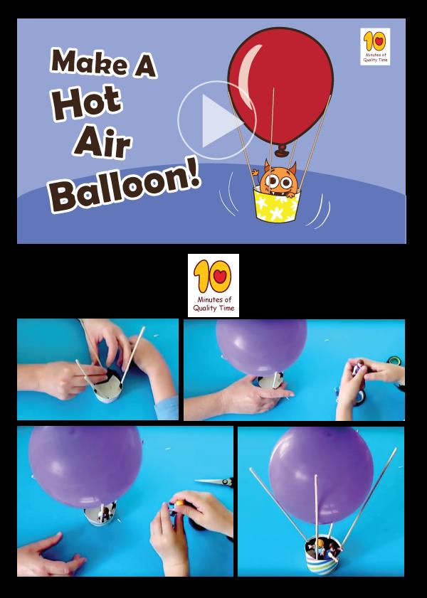 Hot Air Balloon Hot air balloon craft for kids, Hot air