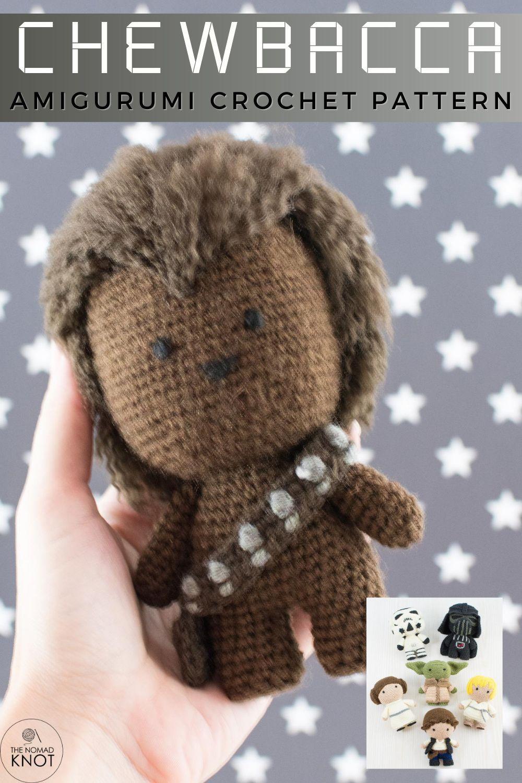 Chewbacca crochet action figure