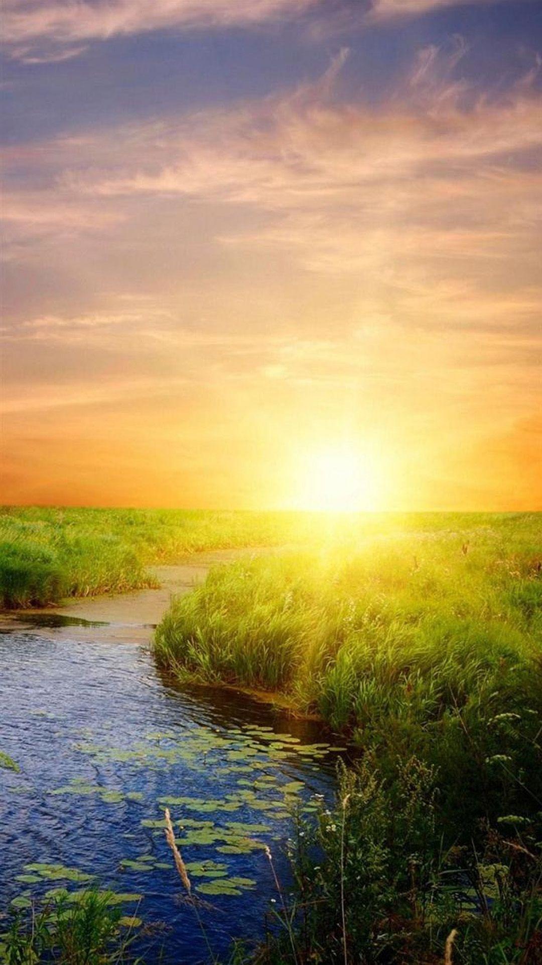 nature sunrise bright lake field landscape | nature | pinterest