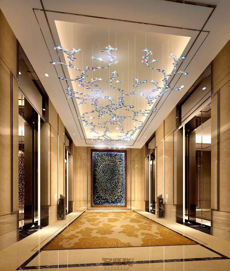 Pin by gladiator l on hall pinterest lobbies ceilings for Hotel ceiling design
