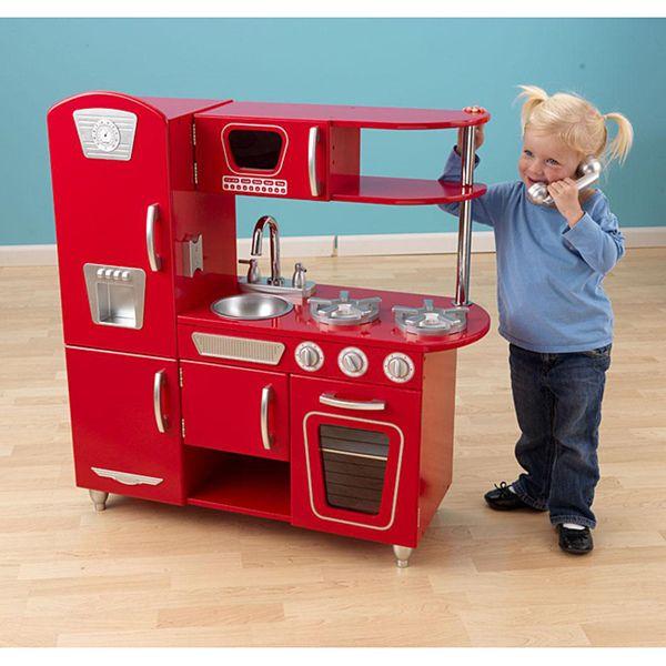 KidKraft Red Vintage Kitchen by KidKraft | Vintage kitchen ...