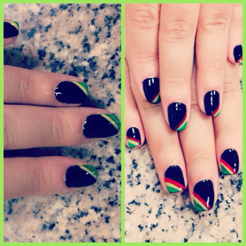 Rasta nail art and Jamaican flag | Nails | Pinterest | Rasta nails ...