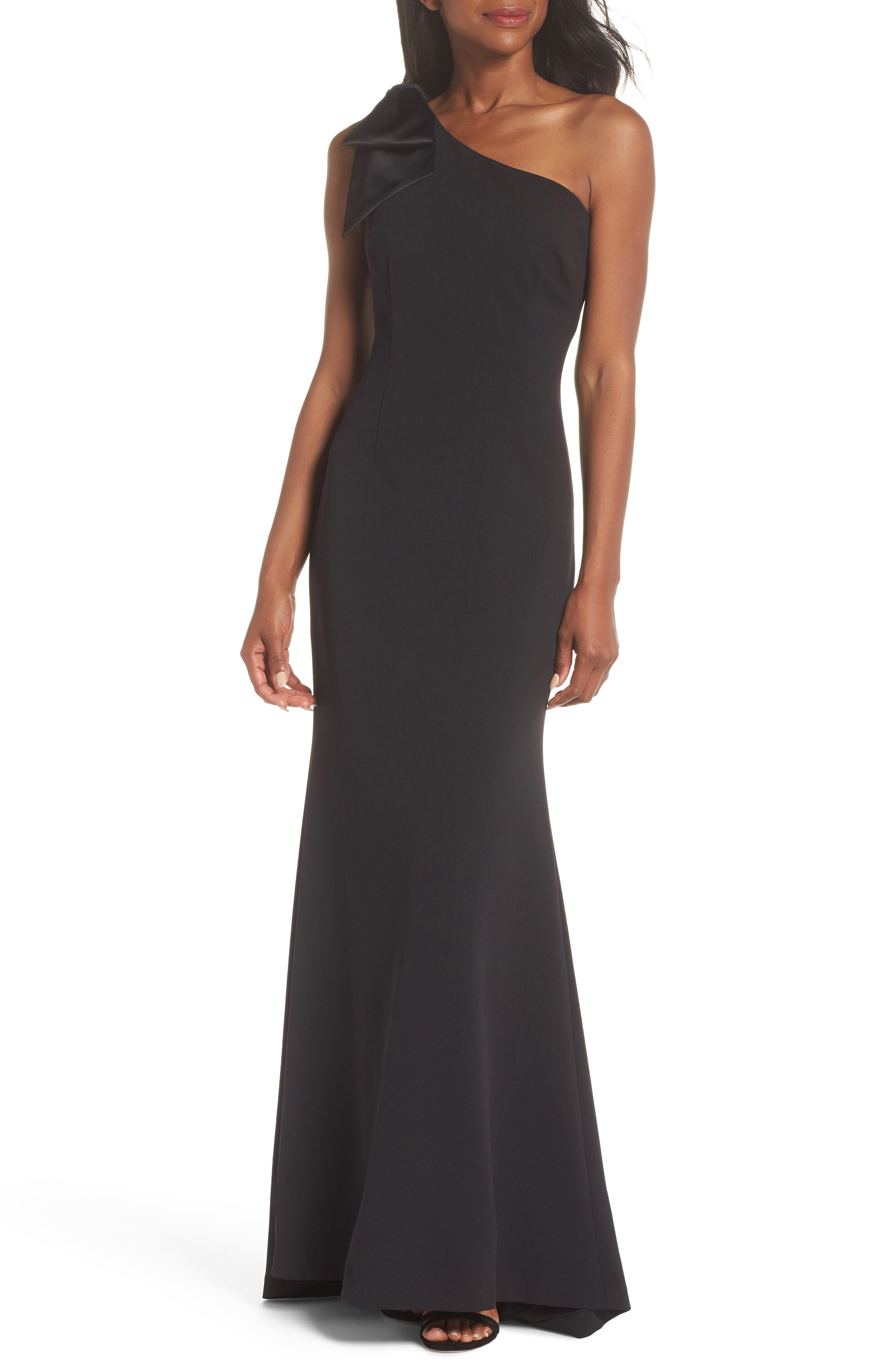 Beautiful eliza j oneshoulder aline gown regular petite online