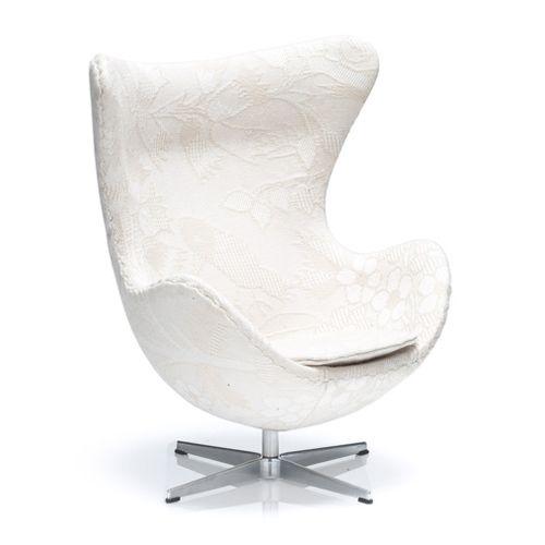 Miniatyr Arne Jacobsen Egget Kenzo Hvit - Arne Jacobsen by Fritz Hansen - 1:6 Design - RoyalDesign.no