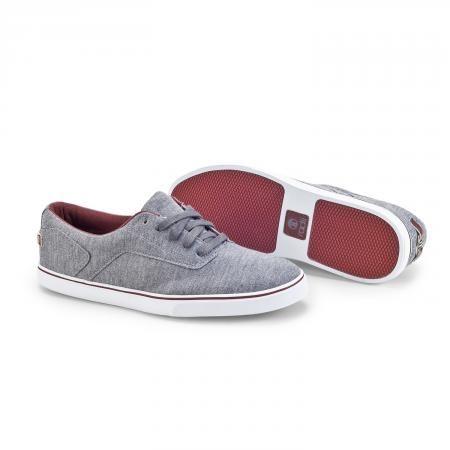 Noble Low charcoal burgundy Radii Footwear