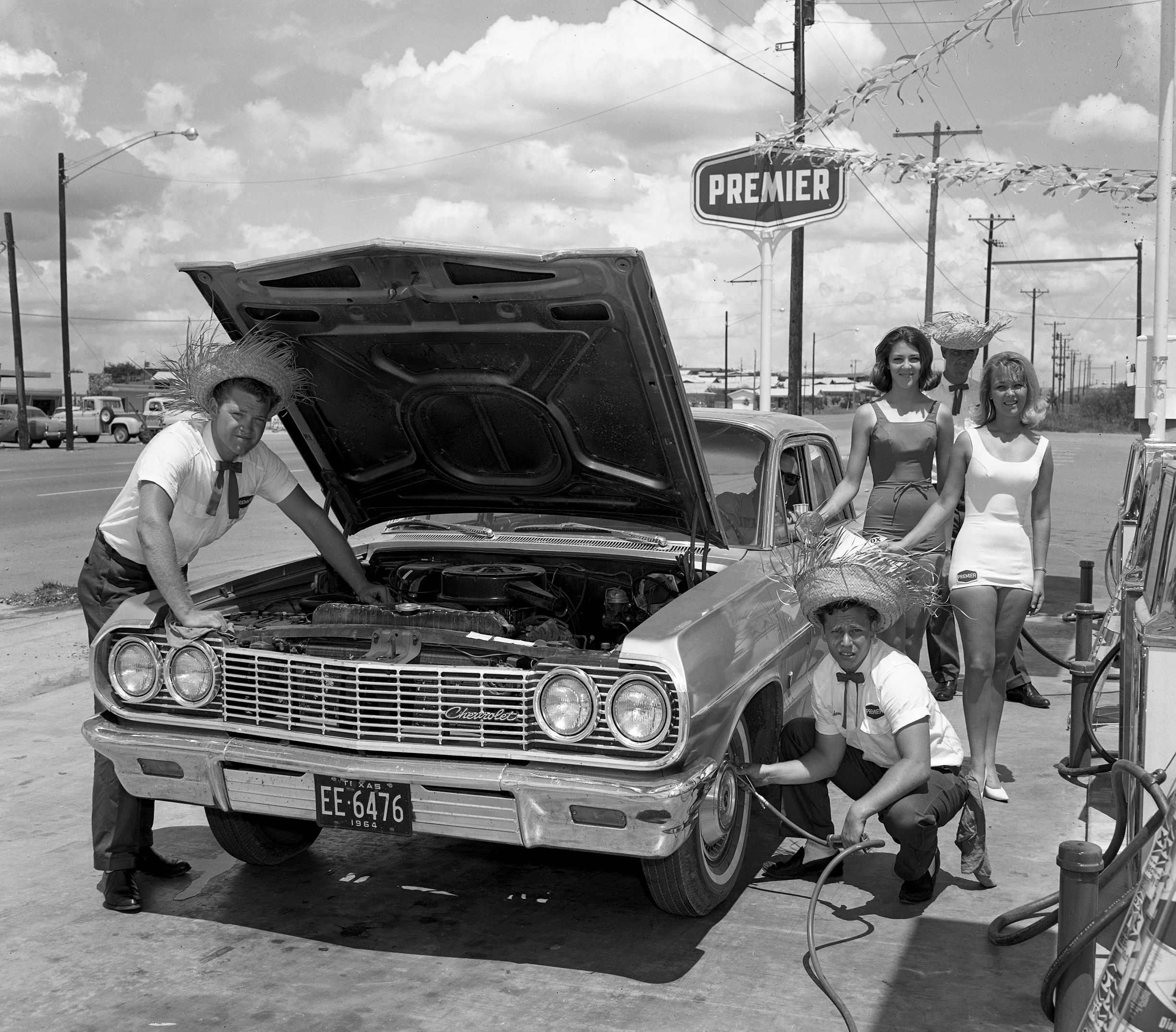 New premier gas station at fort worth texas 1964