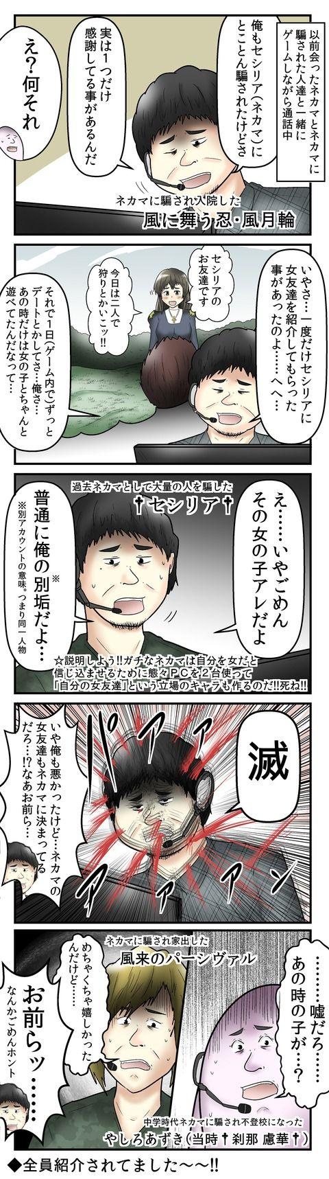 ネカマ 漫画 オフ
