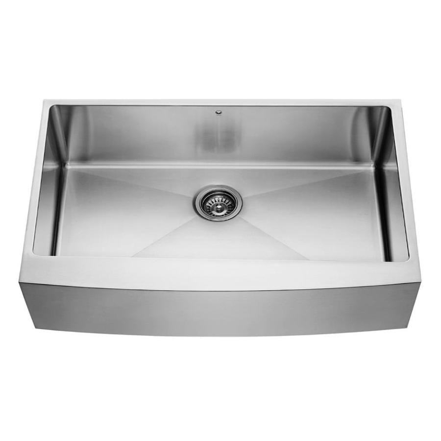 vigo 36 0 in x 22 25 in premium satin single basin stainless steel rh pinterest com