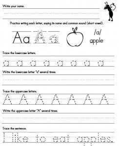 Handwriting Worksheet A Z FREE Printables  ...
